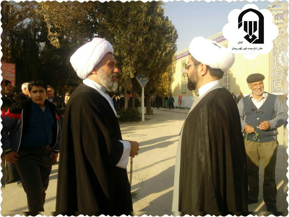 دیدار امام جمعه محترم شهر قهدریجان با امام جمعه سابق شهرستان مبارکه