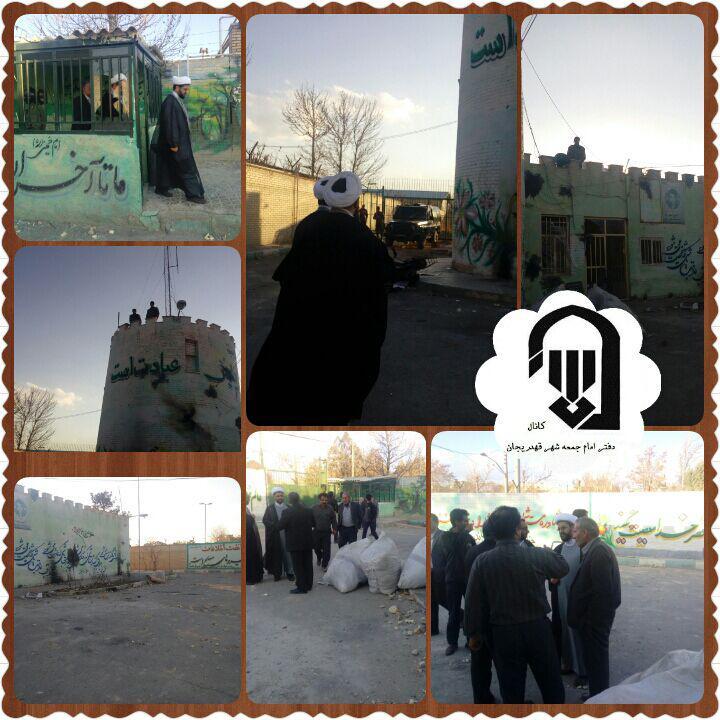 بازدید امام جمعه محترم شهر قهدریجان از کلانتری شهر قهدریجان پس از درگیری ها