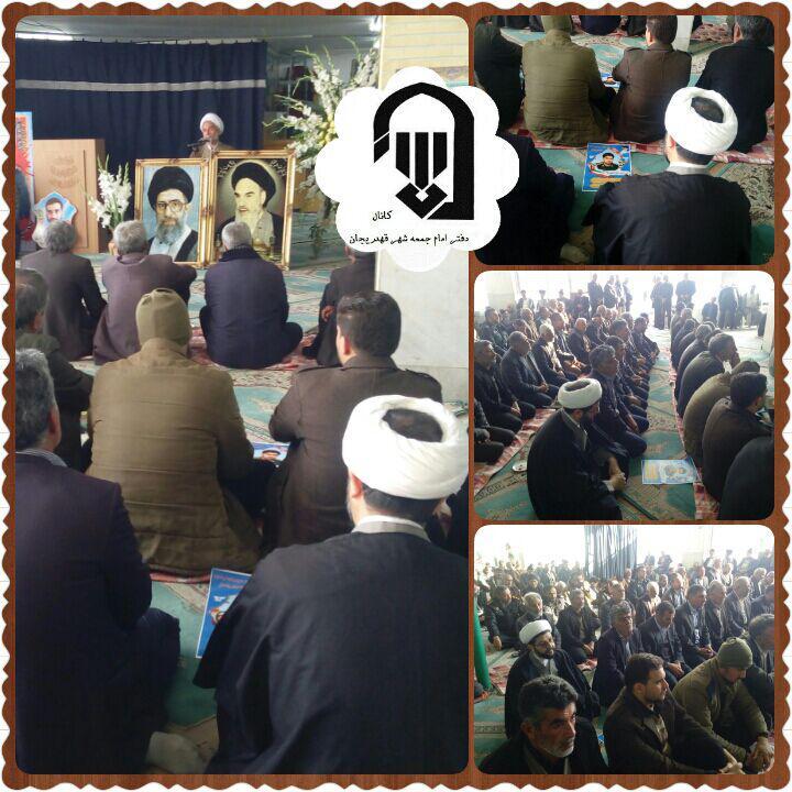 حضور امام جمعه محترم شهر قهدریجان در مراسم بزرگداشت شهید شاهسنایی در گلدشت از شهیدان اغتشاشات اخیر