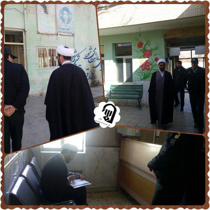بازدید امام جمعه محترم شهر قهدریجان از کلانتری شهر و روند بازسازی کلانتری