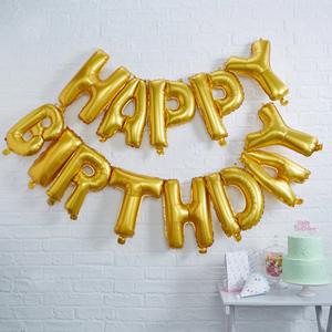 بادکنک فویلی تولدت مبارک happy birthday
