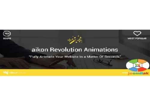 افزونه متحرک سازی و انیمیشن جوملا aikon Revolution Animations 1.2 برای جوملا 3
