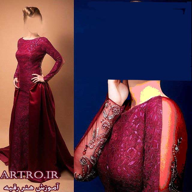 مدل لباس های مجلسی بلند قرمز زنانه 2018