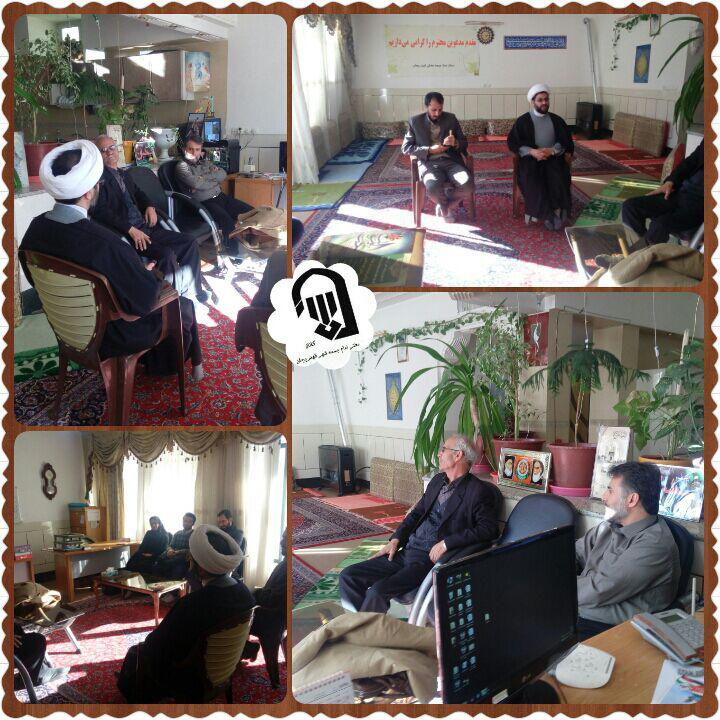 جلسه توجیهی مجری مراسم شب خاطره ( سید جواد هاشمی) توسط امام جمعه محترم شهر قهدریجان