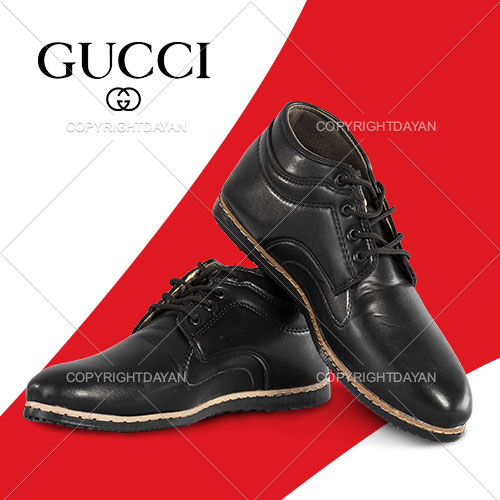نیم بوت مردانه Gucci(سرمه ای - قهوه ای - مشکی)