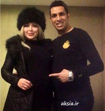 عکس سپهر حیدری و همسرش در کنار هم