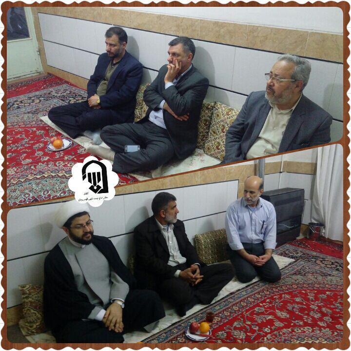 عیادت اقای ناوک توسط امام جمعه محترم شهر قهدریجان و اعضا ستاد نماز جمعه