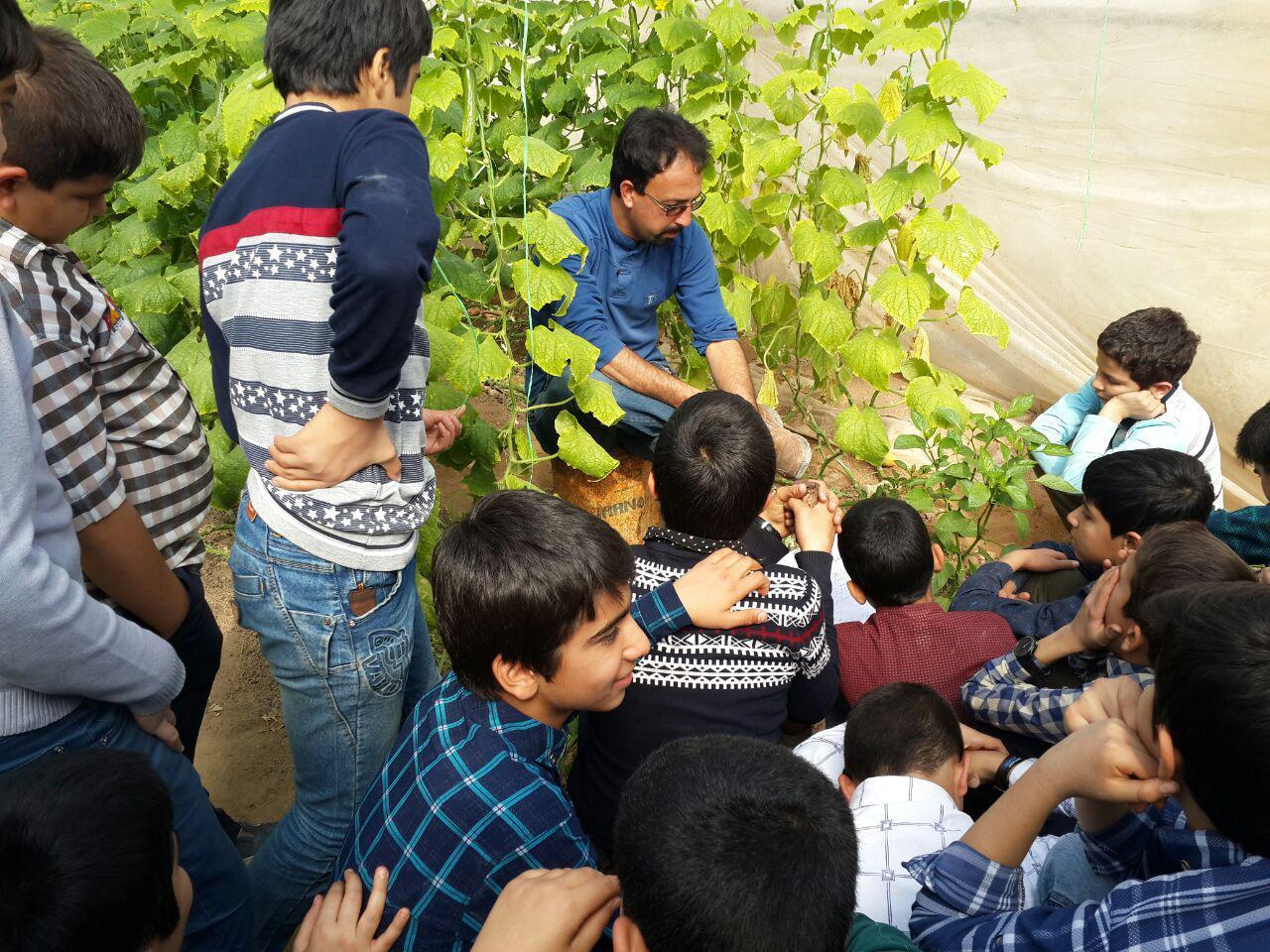 بازدید از گلخانه/کلاس شهید احمدی روشن