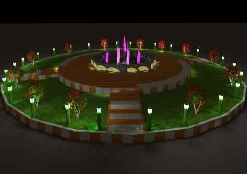 طراحی و نورپردازی میدان شهر