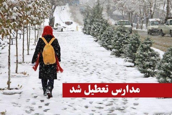 در پی بارش برف و برودت هوا؛ مدارس شهرستان زیرکوه تعطیل شد