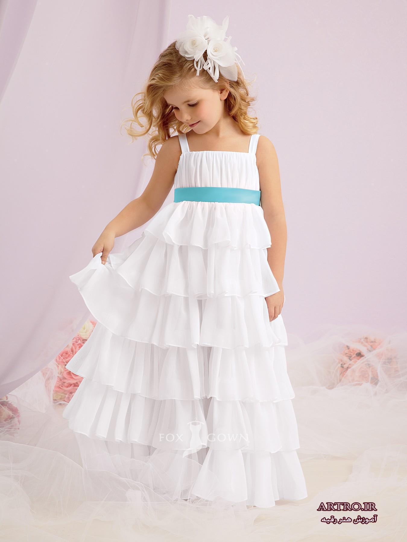 لباس عروس ساده دختربچه 2018