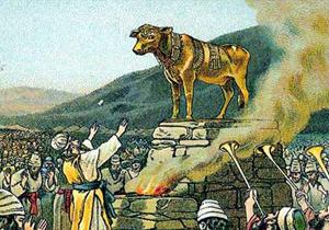 قوم بنی اسرائیل توسط چه کسی گوساله پرست شدند؟