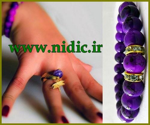 ست دستبند و انگشتر تهیه شده از بهترین سنگ ها