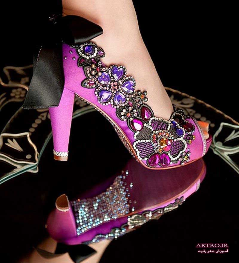 مدل کفش عروس پاشنه بلند,