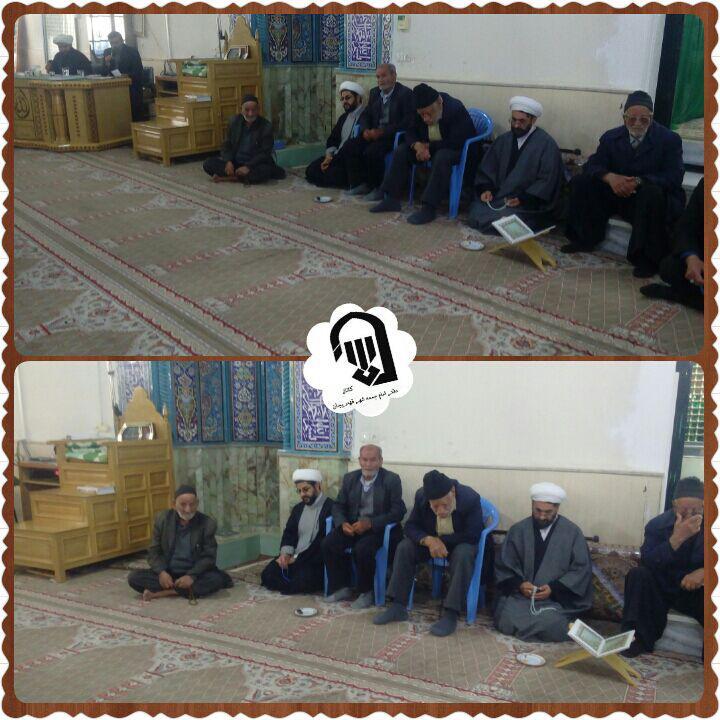 حضور امام جمعه محترم شهر قهدریجان در مراسم های شهر زازران