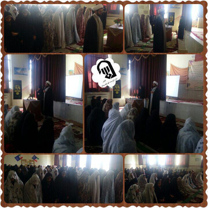 حضور امام جمعه محترم شهر قهدریجان در مدرسه عرفان و اقامه نماز جماعت و سخنرانی با موضوع شهدای گمنام �