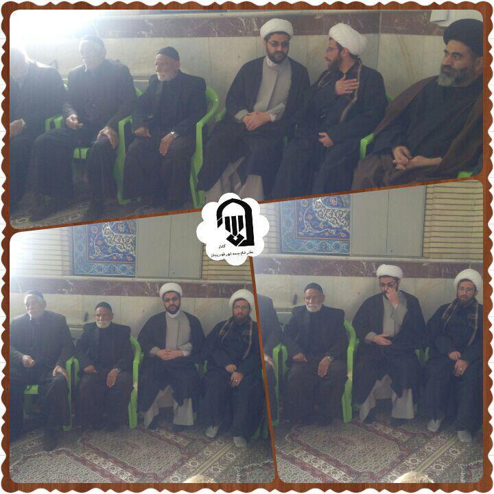حضور امام جمعه محترم شهر قهدریجان در مراسم های امازاده سید محمد