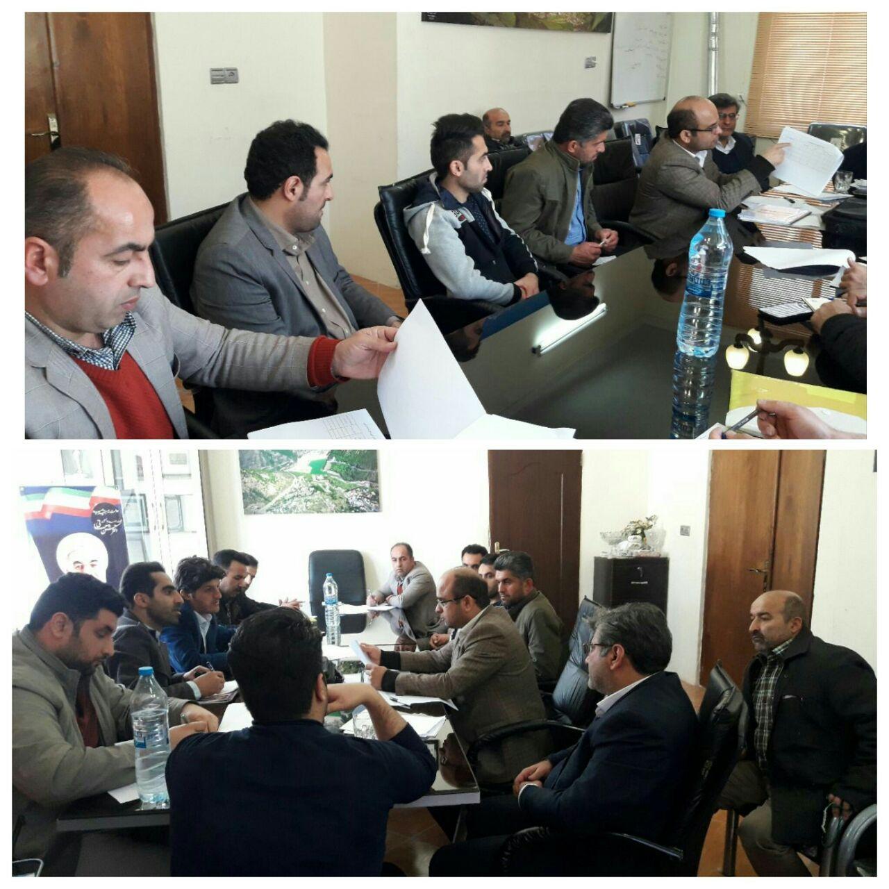 دیدار اعضای شورا با اعضای سازمان مدیریت و برنامه ریزی روستاها