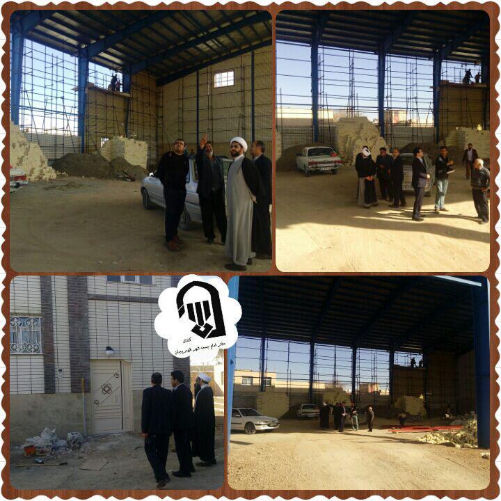 بازدید امام جمعه محترم شهر قهدریجان از مراحل ساخت ورزشگاه روستای جلال اباد