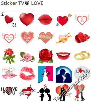 استیکر تلگرام   LOVE