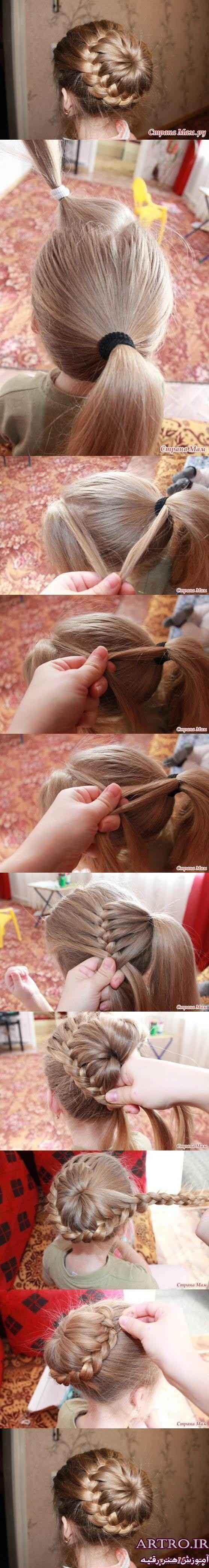 آموزش بستن مو زنانه,