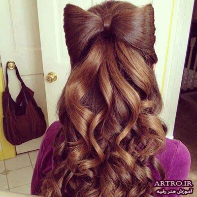 اموزش بستن مو کوتاه دخترانه,