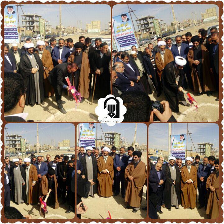 شروع عملیات اجرایی خیابان سردار نبی الله عسکریان زازران با حضور امام جمعه محترم شهر قهدریجان