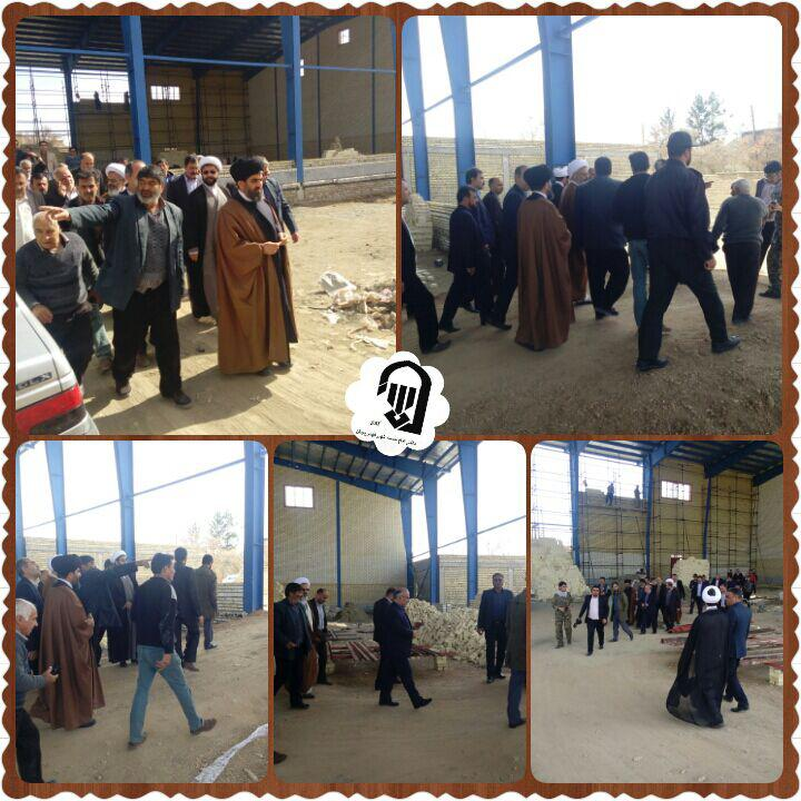 بازدید از سالن ورزشی نیمه ساز روستای جلال اباد و گرفتن قول مساعدت برای ساخت و اتمام این پروژه از مدی