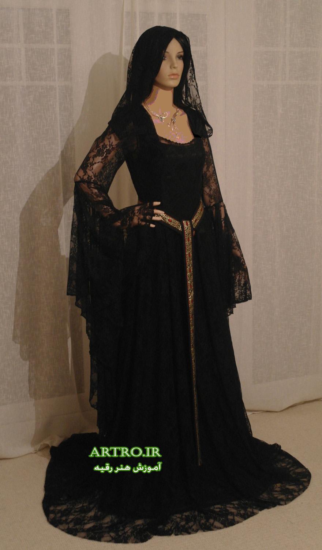 لباس مجلسی بلند زنانه مشکی