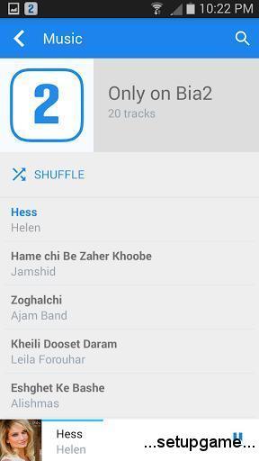 دانلودبرنامه Bia2 - Persian Musicآخرین نسخه