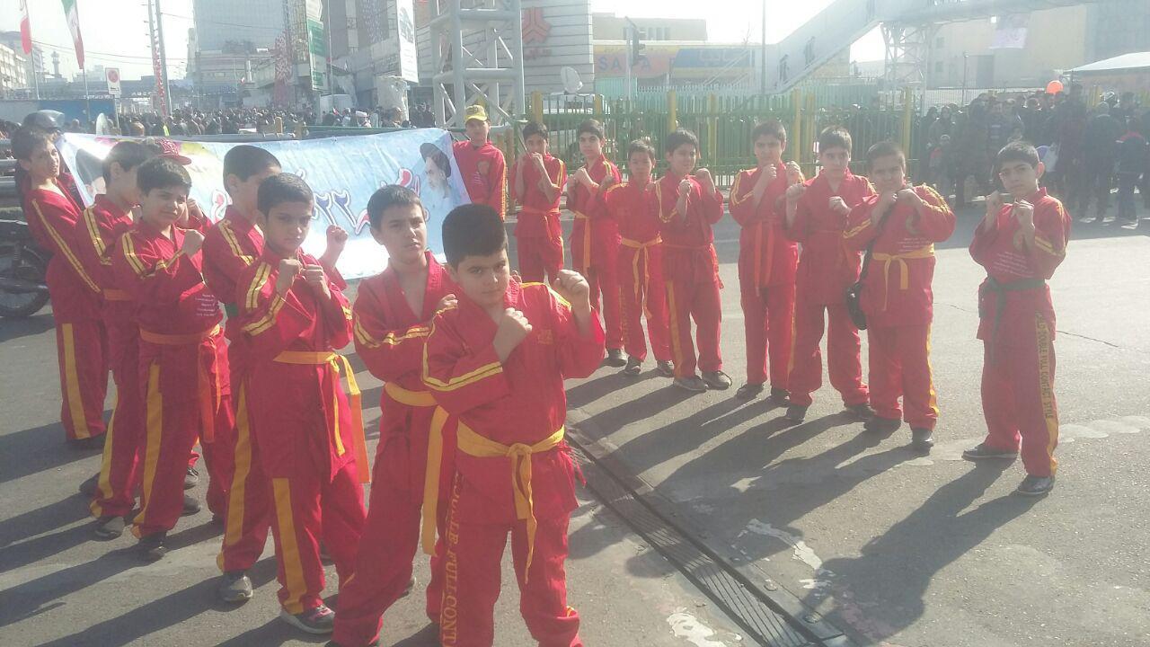 حضور حماسی نوجوانان دابل فول کنتاکت فدراسیون ورزشهای رزمی
