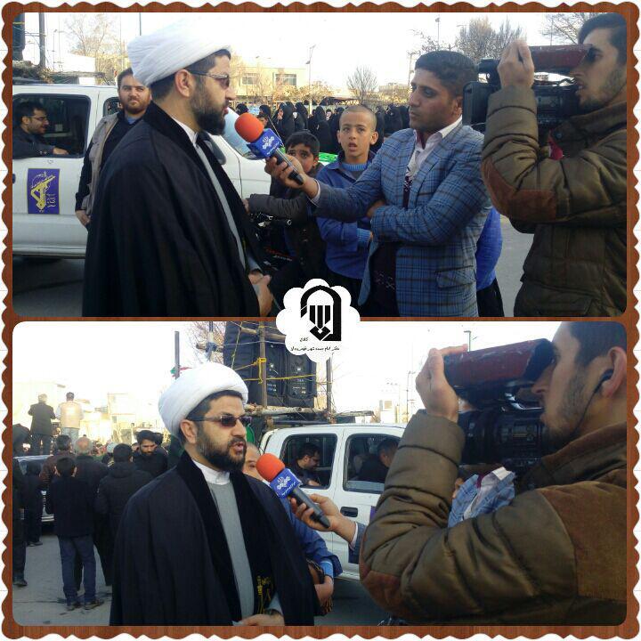 مصاحبه با امام جمعه محترم شهر قهدریجان در مراسم تشیع شهدای گمنام
