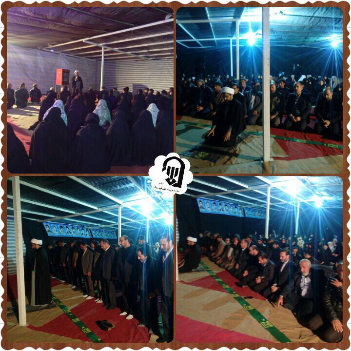 اقامه اولین نماز در بوستان شهدا بعد از تغییر نام توسط امام جمعه محترم شهر قهدریجان