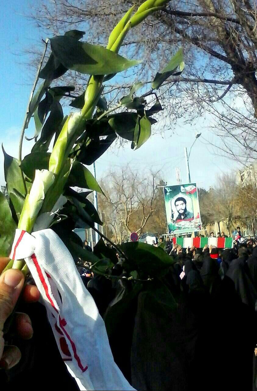 تشییع وتدفین پیکر مطهر ۳ شهید گمنام در قهدریجان