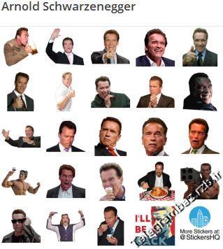 استیکر تلگرام Arnold Schwarzenegger