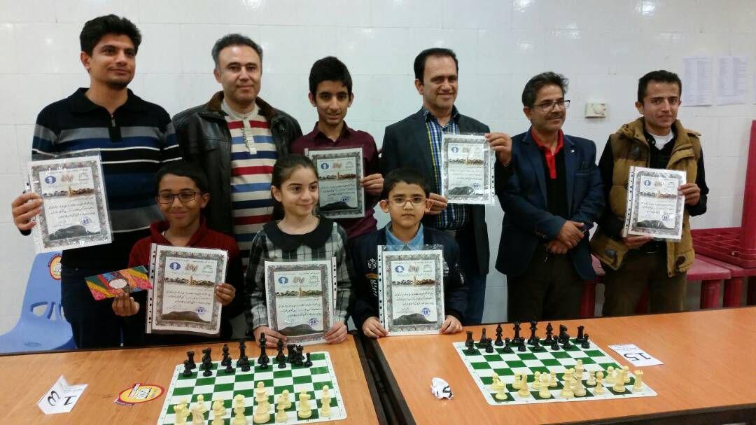 درخشش شطرنجبازان کازرون در مسابقات ریتد جام قلعه سفید نورآباد