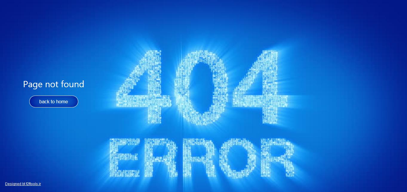 مجموعه قالب های 404 نسخه ی 1