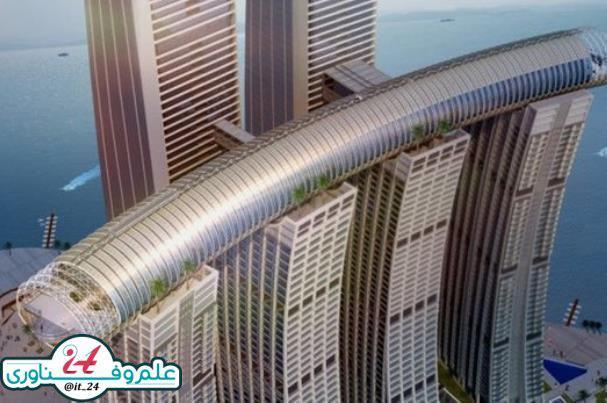 برج افقی در چین