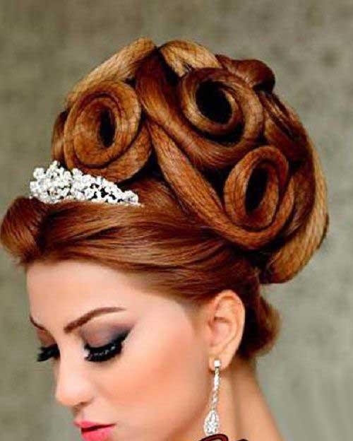 مدل شینیون آرایش عروس ، شینیون 1