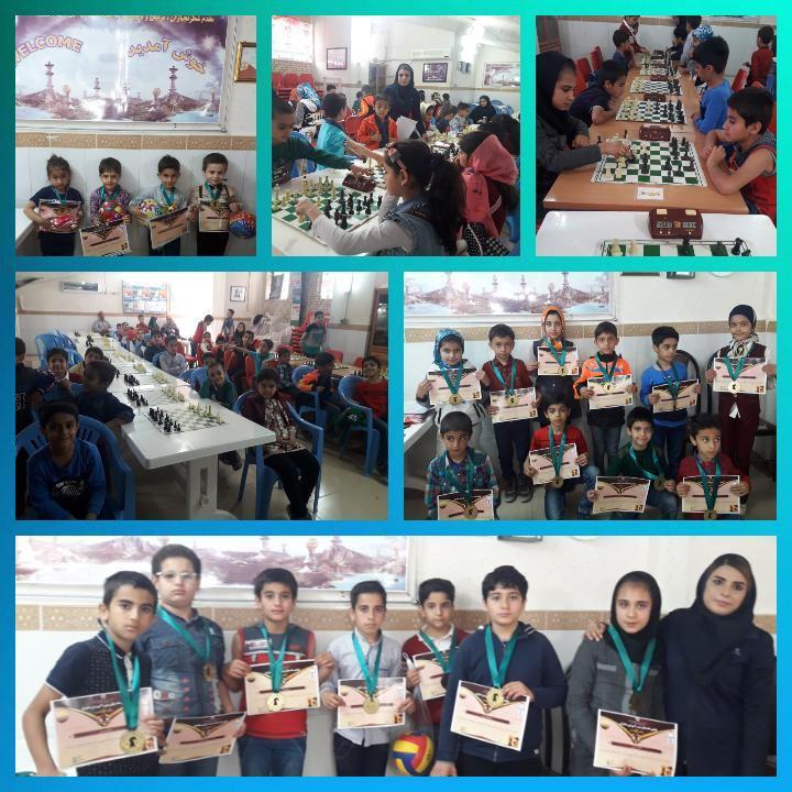 مسابقات شطرنج و اهدای گواهینامه پایان دوره هیات شطرنج اداره ورزش و جوانان کازرون