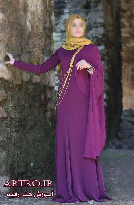 مدل لباس مجلسی بلند پوشیده97