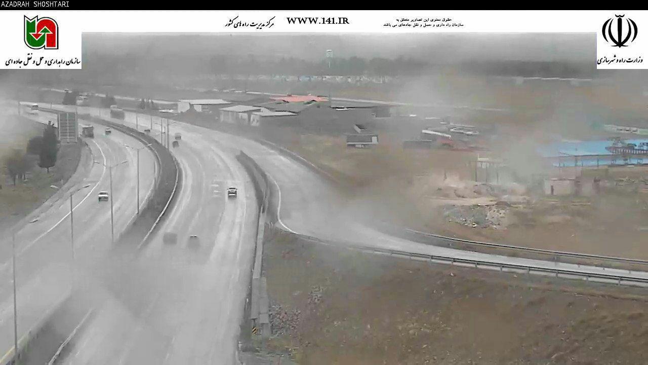 عکسی از بارش های امروز در اتوبان شهید شوشتری
