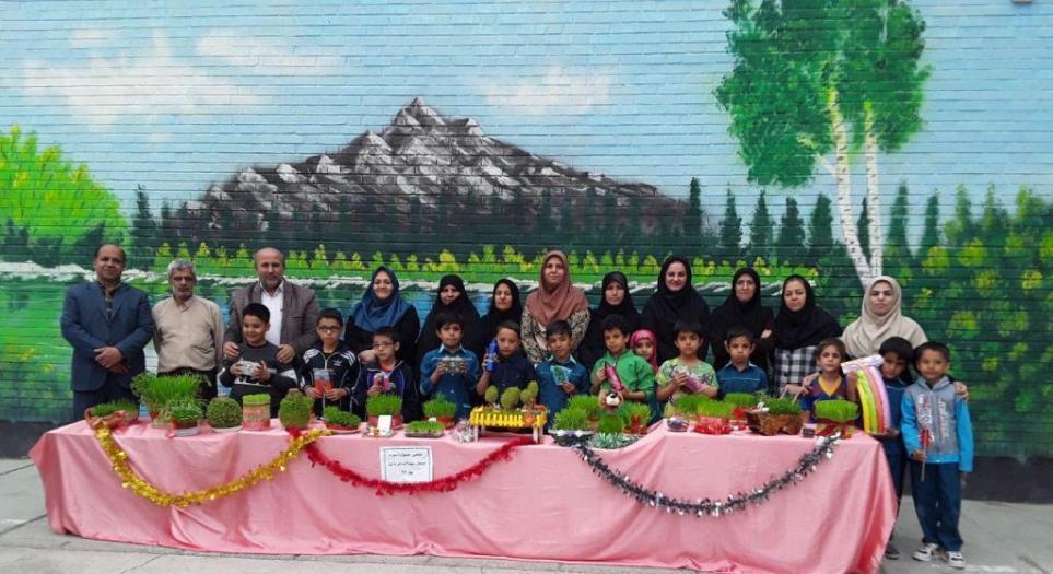 استقبال از نوروز با برگزاري ششمين جشنواره سبزه در دبستان شهيد آيت