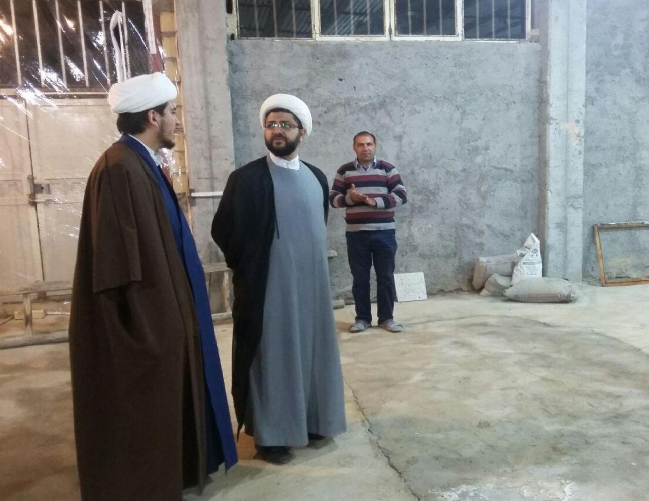 بازدید امام جمعه محترم شهر قهدریجان از روند ساخت مسجدپیغمبر رحمت به همراه امام جماعت این مسجد