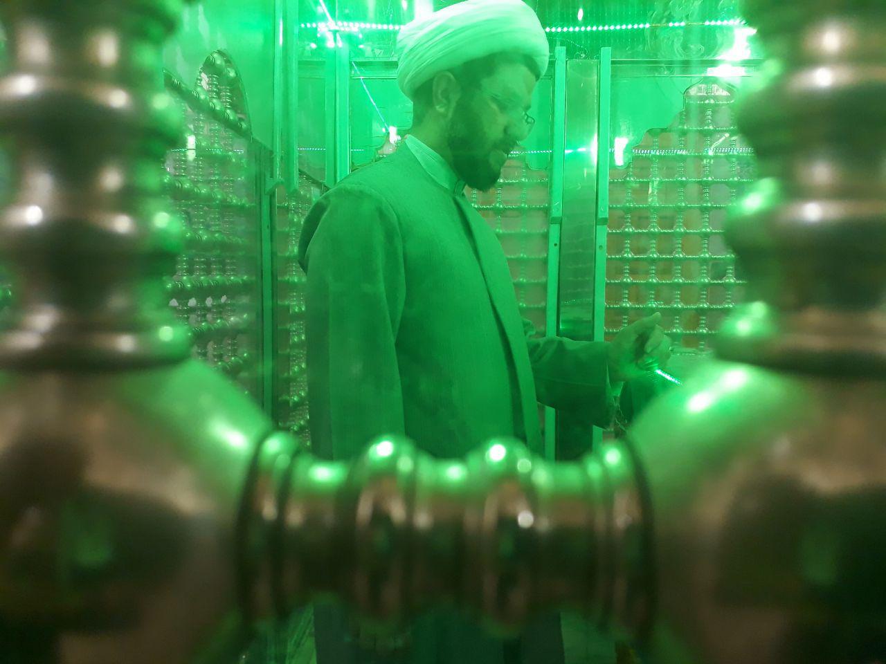 مراسم معنوی غبار روبی امامزاده سید محمد با حضور امام جمعه محترم شهر قهدریجان
