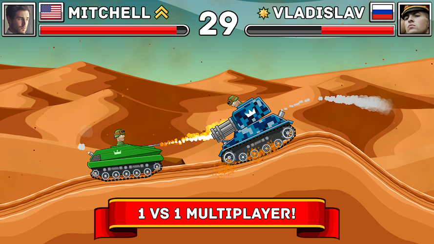 دانلود Hills of Steel 1.4.2 - بازی اکشن تپه های فولادین برای اندروید و آی او اس + مود