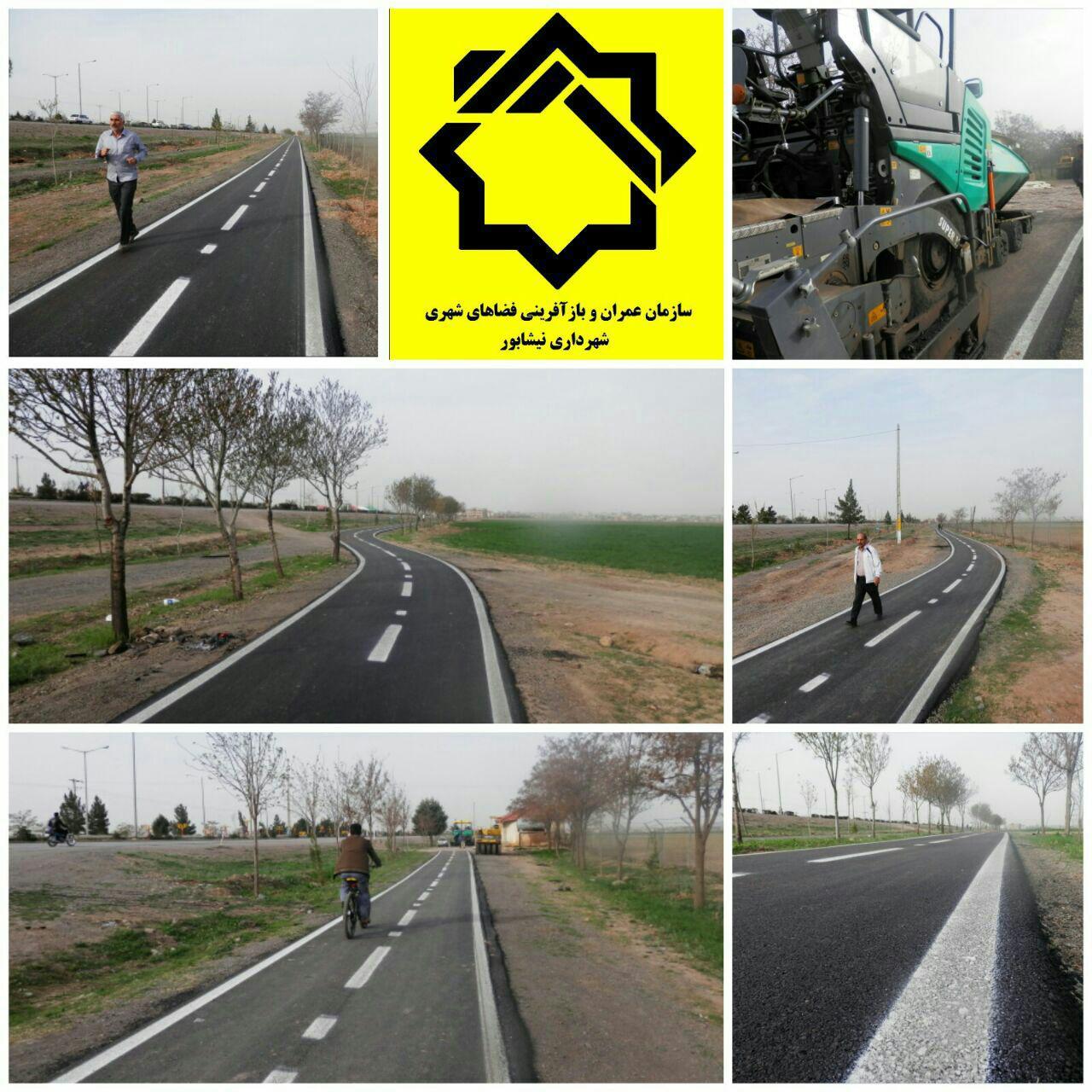 اجرای مسیر دوچرخه سواری در جاده باغرود