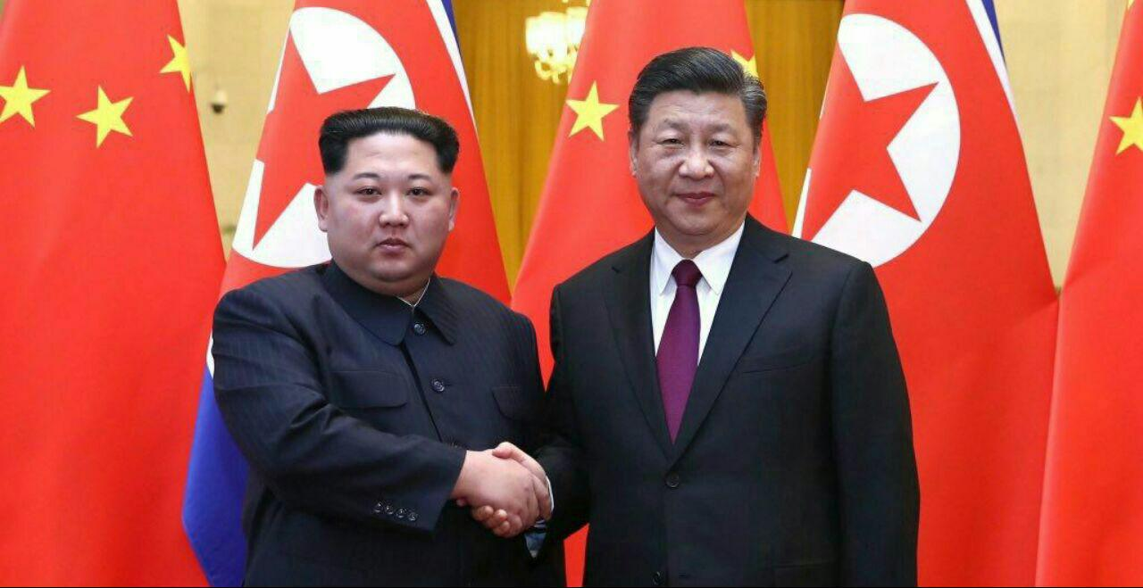 دست دوستی کره ی شمالی به سمت چین // دیدار دو رهبر با هم