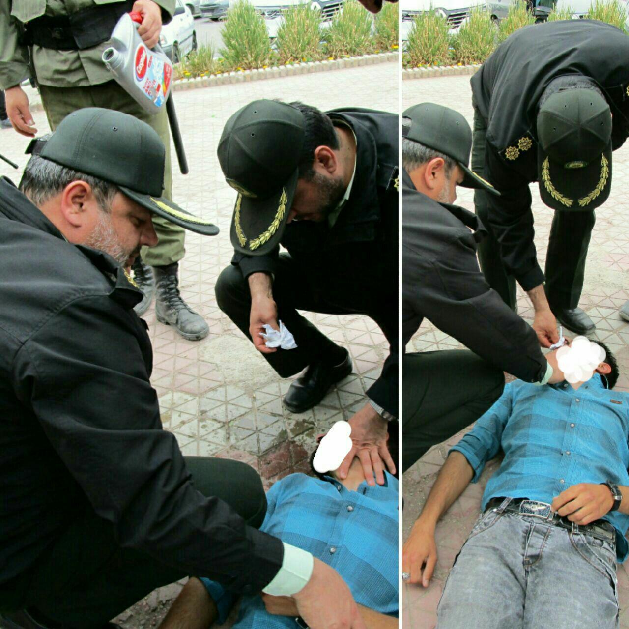نجات جان مرد جوان توسط پلیس نیشابور