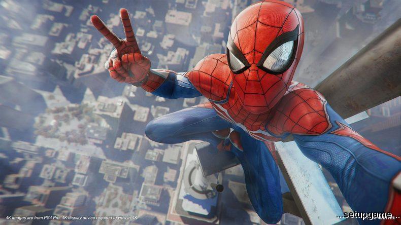تصاویر بازی Spider-Man که بهصورت مستقیم از پلیاستیشن ۴ پرو گرفته شده است